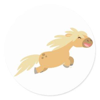 Cute Cartoon Palomino Pony sticker sticker