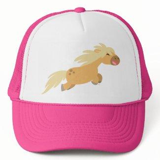 Cute Cartoon Palomino Pony Trucker Hat hat