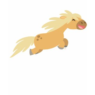 Cute Cartoon Palomino Pony Women T-shirt shirt