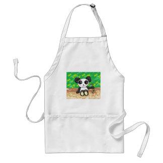 cute cartoon panda adult apron