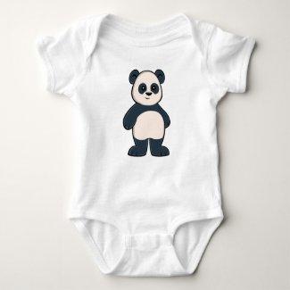Cute Cartoon Panda Baby Bodysuit