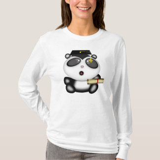Cute Cartoon Panda Bear Graduate with Mortar Board T-Shirt