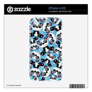 Cute Cartoon Panda Bear Pattern Decals For iPhone 4S