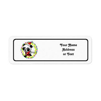 Cute Cartoon Panda Bear Santa Return Address Label