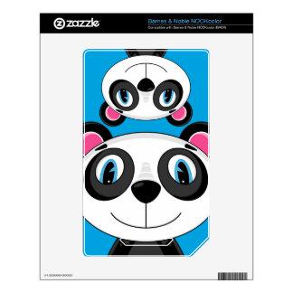 Cute Cartoon Panda Bear NOOK Color Decal