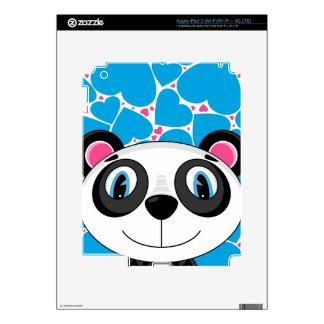 Cute Cartoon Panda Bear iPad 3 Skins