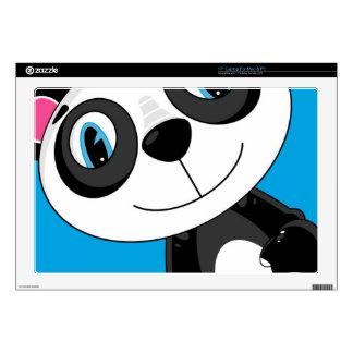 """Cute Cartoon Panda Bear Decal For 17"""" Laptop"""