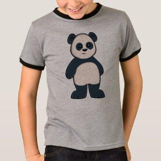 Cute Cartoon Panda Boy's Ringer T-Shirt
