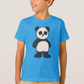 Cute Cartoon Panda Boy's T-Shirt