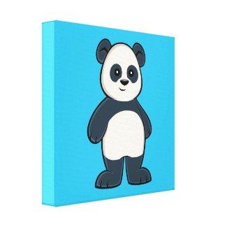 Cute Cartoon Panda Canvas Print