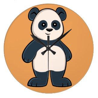 Cute Cartoon Panda Clock