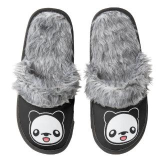 Cute Cartoon Panda Pair Of Fuzzy Slippers