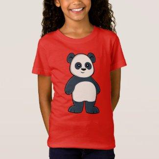 Cute Cartoon Panda Girl's T-Shirt