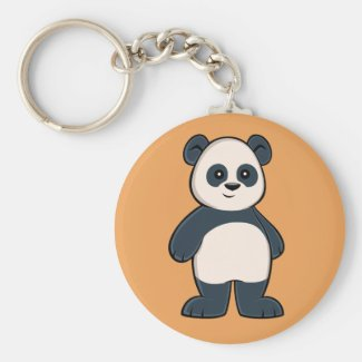 Cute Cartoon Panda Keychain
