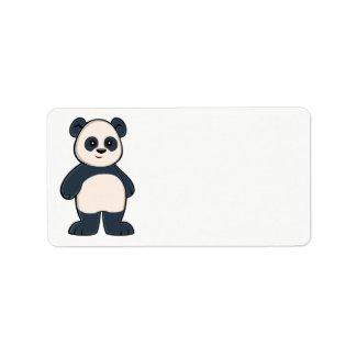 Cute Cartoon Panda Label