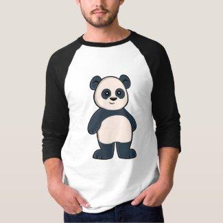 Cute Cartoon Panda Men's 3/4 Sleeve T-Shirt