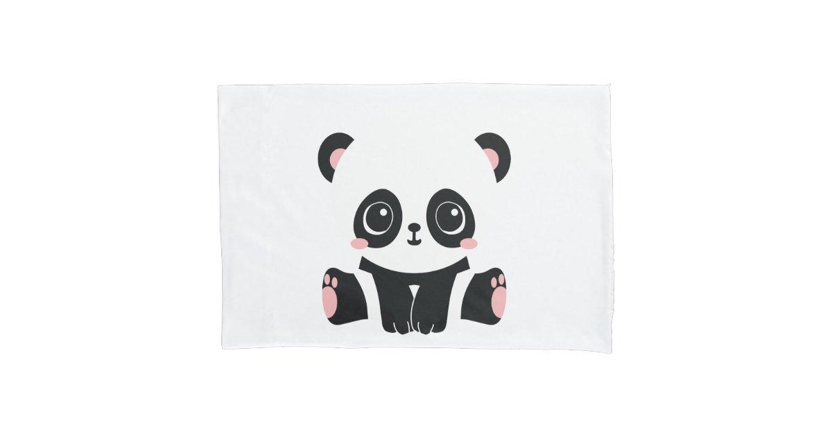 Cute Cartoon Panda Pillow Case Zazzle Com