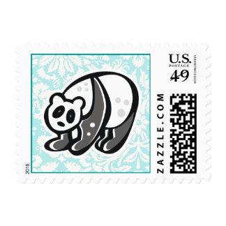 Cute Cartoon Panda Postage Stamp