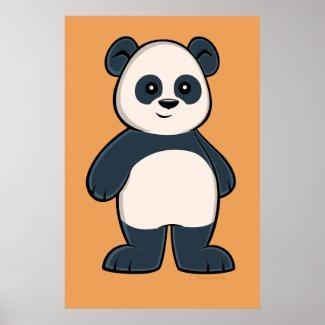 Cute Cartoon Panda Poster