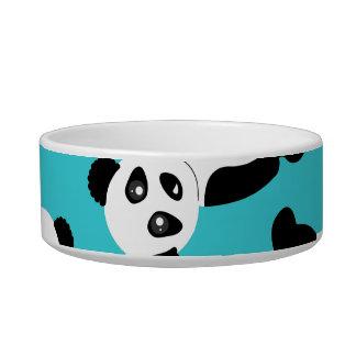 Cute Cartoon Panda Print - Blue Bowl