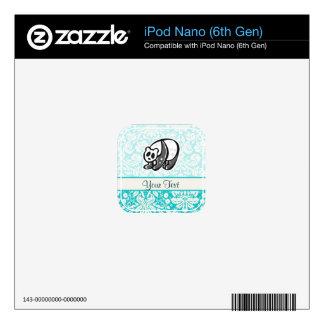 Cute Cartoon Panda Skin For iPod Nano