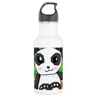 cute cartoon panda stainless steel water bottle