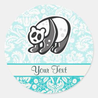 Cute Cartoon Panda Round Sticker