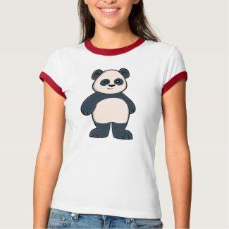 Cute Cartoon Panda Women's Ringer T-Shirt