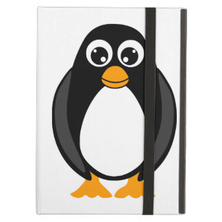Cute Cartoon Penguin Black and White Case For iPad Air