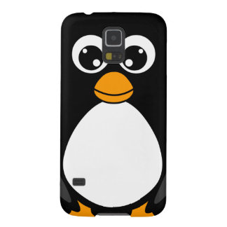 Cute Cartoon Penguin Black and White Galaxy S5 Cover