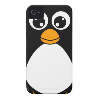 Cute Cartoon Penguin Black and White iPhone 4 Case