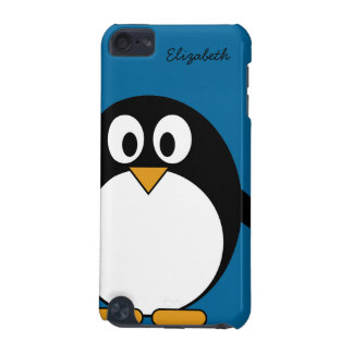 cute cartoon penguin blue background iPod touch 5G cover