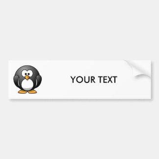 Cute Cartoon Penguin Bumper Sticker