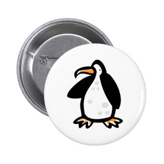 cute cartoon penguin button