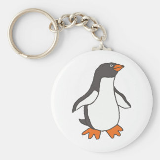 Cute Cartoon Penguin Design Keychain