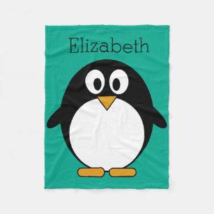 648 Fleece Baby Blanket Embroidered /& Personalised Winter Penguin Design