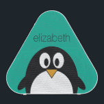 """cute cartoon penguin emerald and black speaker<br><div class=""""desc"""">A simple,  yet modern illustration of a penguin. If you need to make changes to the artwork,  click on the customize it button to move things around.</div>"""