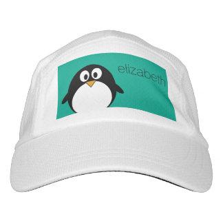 cute cartoon penguin emerald and black headsweats hat