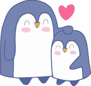d6919cb89 Cute Penguin Family Cartoon T-Shirts - T-Shirt Design & Printing ...