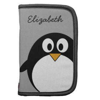 cute cartoon penguin gray planners