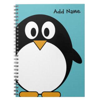 Cute Cartoon Penguin Spiral Notebook