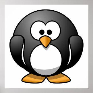 Cute Cartoon Penguin Poster