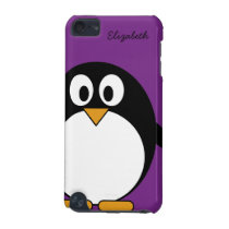 cute cartoon penguin purple iPod touch (5th generation) case