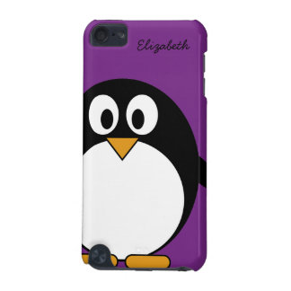 cute cartoon penguin purple iPod touch (5th generation) case