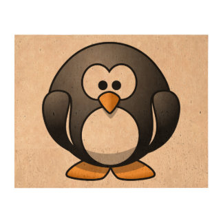 Cute Cartoon Penguin Queork Photo Prints