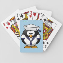 Cute cartoon Penguin Sailor Playing Cards