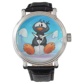 cute cartoon penguin watch