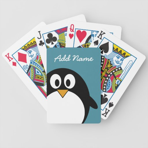 Cute Cartoon Penguin with bright colors Bicycle Card Deck