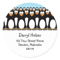 Cute Cartoon Penguins Fun Address Labels