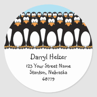 Cute Cartoon Penguins Fun Address Labels